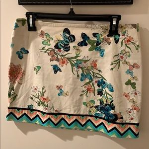Tibi Butterfly Floral print skirt size 8